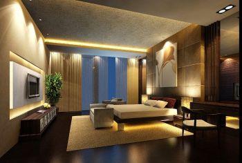 孔雀城现代风格挑空别墅设计效果图