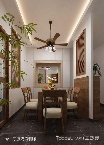 餐厅咖啡色吊顶日式风格装潢效果图