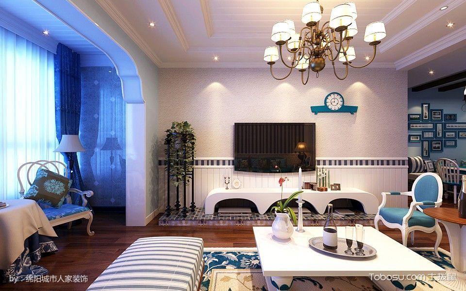 绵阳地中海风格客厅设计效果图