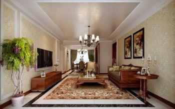 国贸天琴湾三室两厅欧式风格装修效果图
