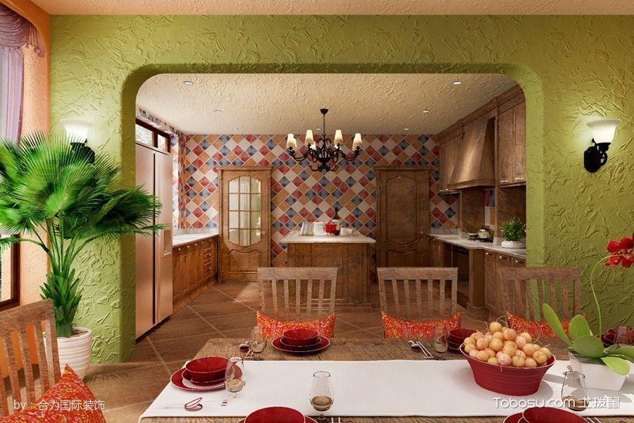 厨房黑色吊顶混搭风格装潢设计图片