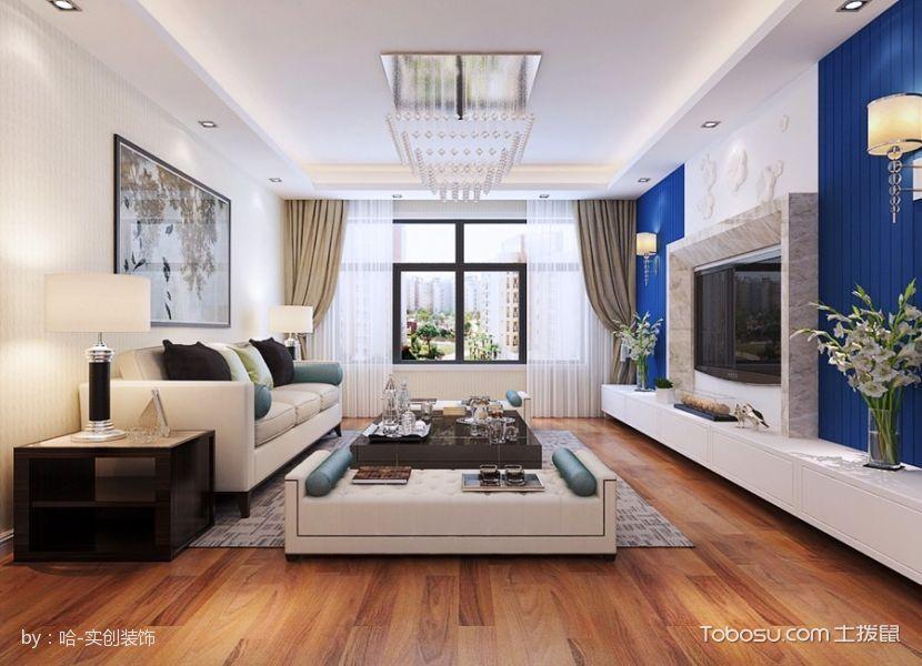 现代简约125平米3房2厅1厨1卫房屋装修效果图
