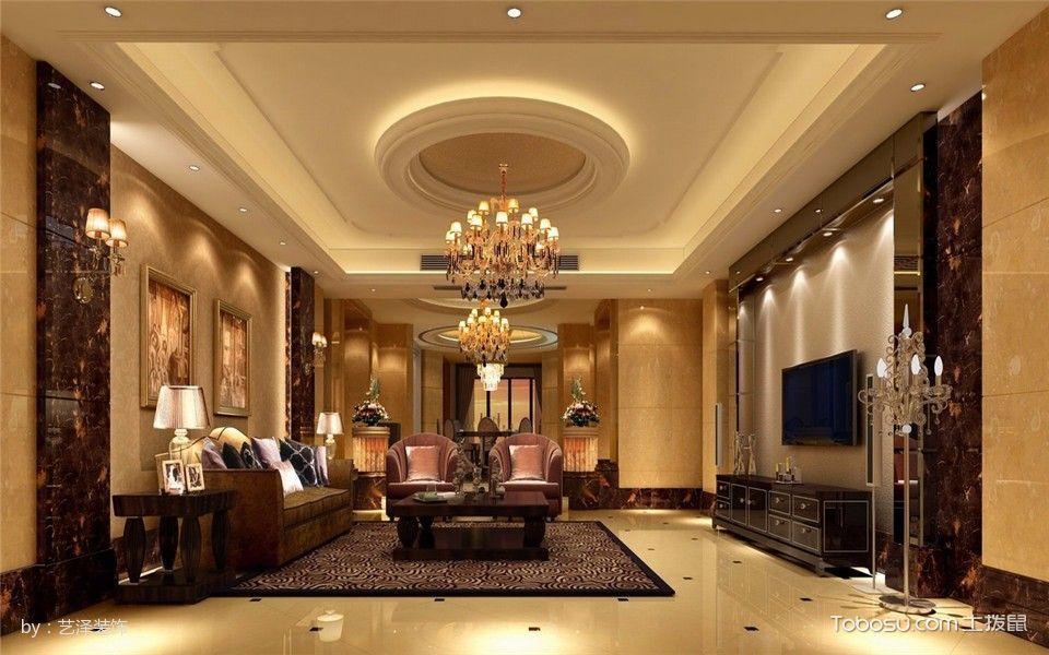 后现代混搭古典165平米3室2厅装修效果图图片