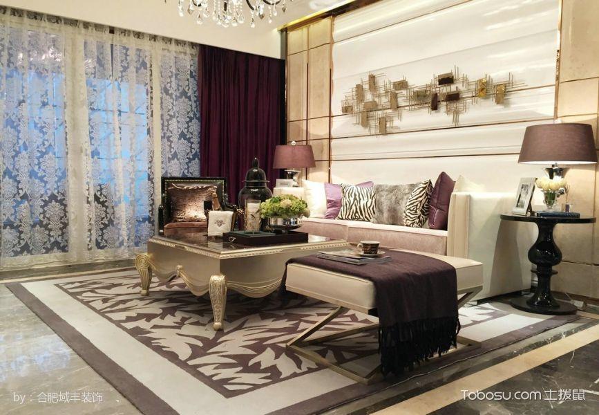 现代新古典式3房2厅112平米装修效果图