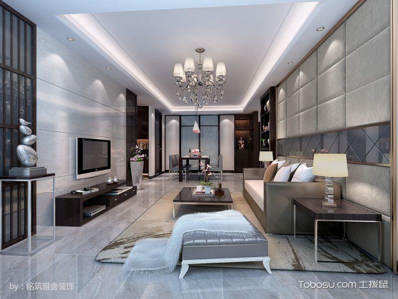 现代简约三房二厅101平米装修效果图