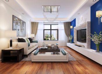 現代簡約125平米3房2廳1廚1衛房屋裝修效果圖