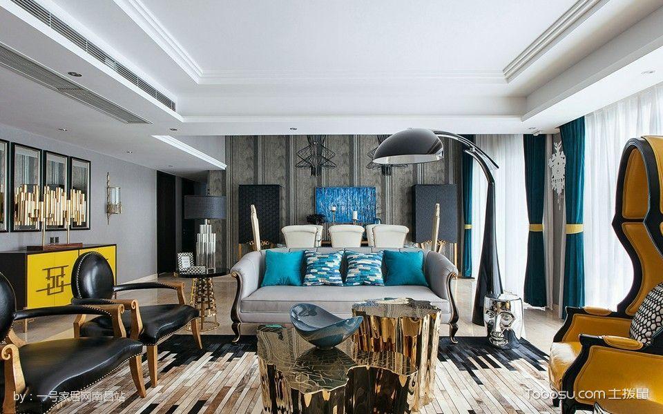 南昌保利香槟国际130平米后现代风格效果图