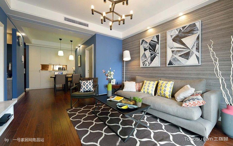 客厅 背景墙_144平米简约风格套房房子装修效果图