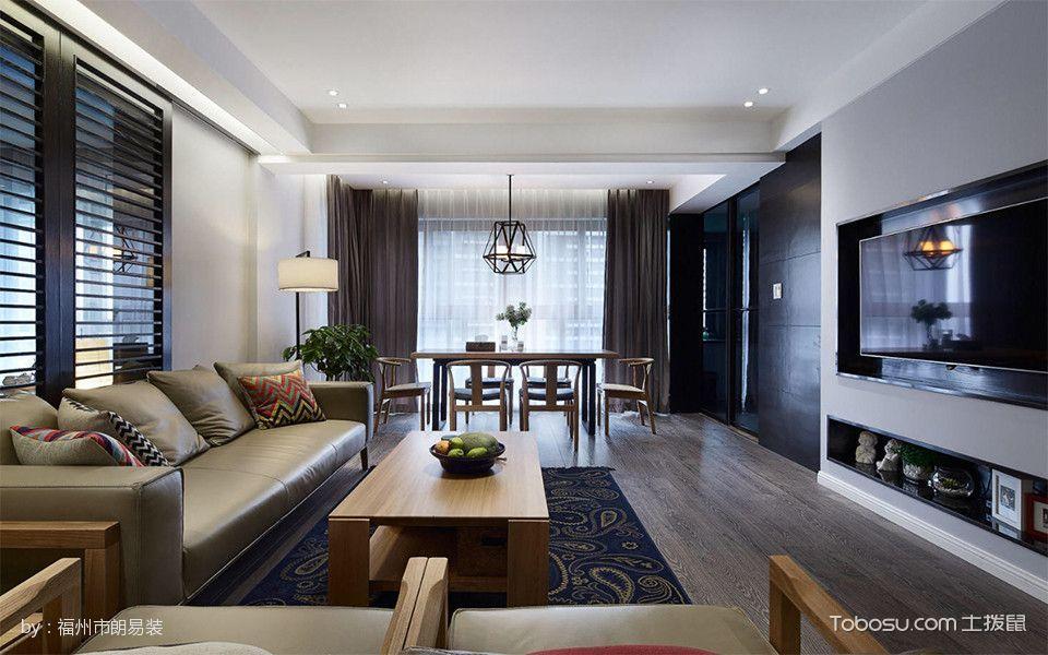 客厅 沙发_126平米简中两房两厅大户型室内装修效果图