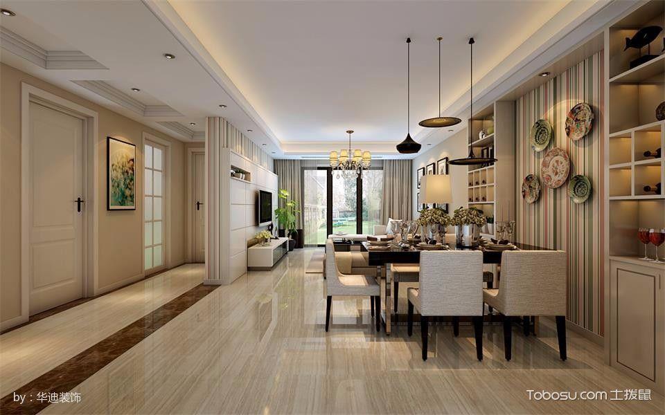 120平米现代简约风格3房2厅室内装修效果图