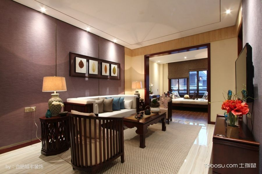 混搭风格137平米三室两厅一厨一卫新房装修效果图