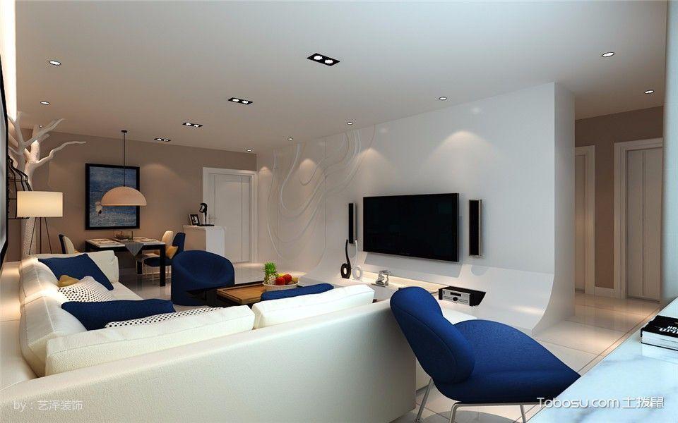 客厅白色细节现代简约风格装饰图片