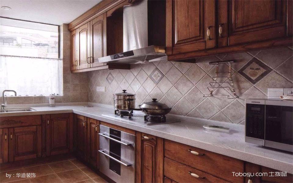 厨房黄色橱柜中式风格装潢设计图片