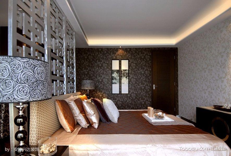 卧室白色床现代中式风格装修设计图片