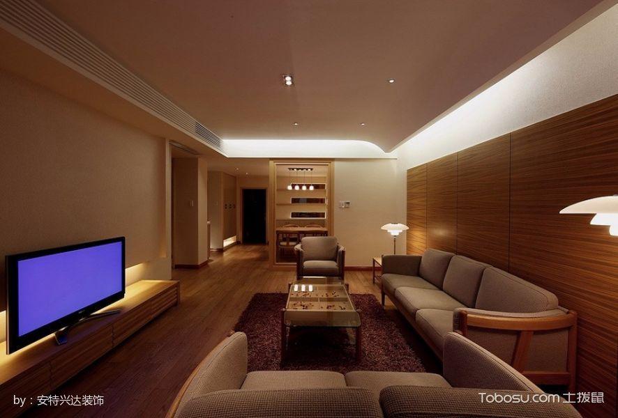 客厅黄色地砖简约风格装修效果图