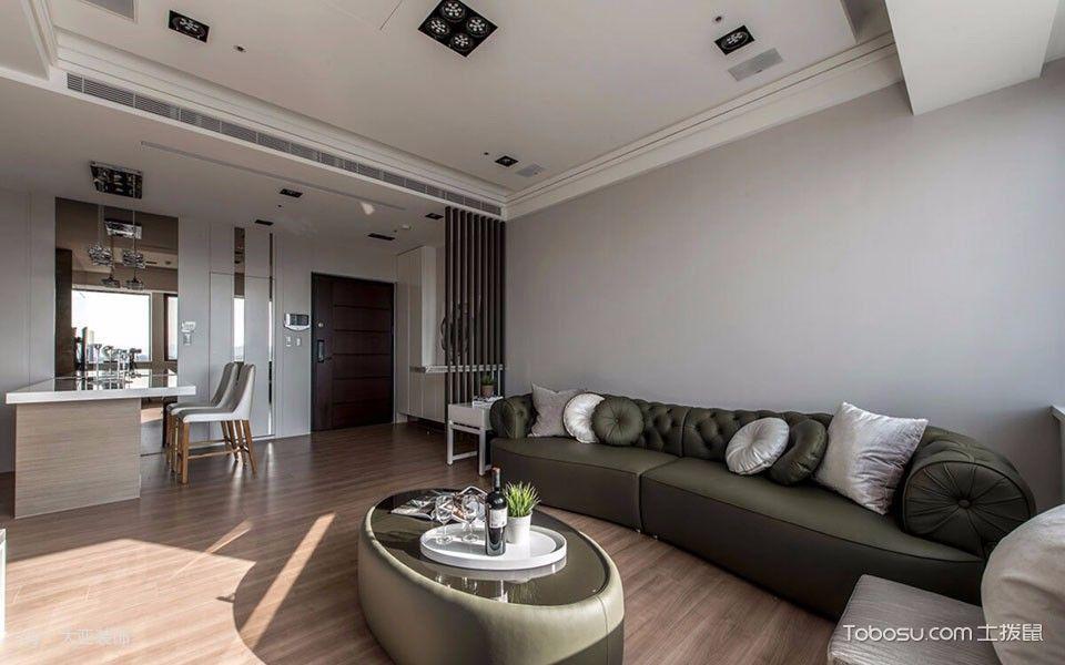 客厅 背景墙_简约混搭风格110平米三房二厅装修效果图