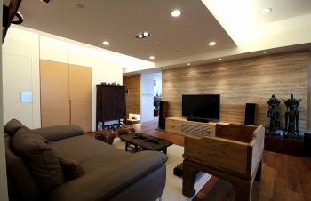 中式混搭风格三居室124平米装修效果图