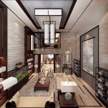 新中式201平米双层别墅装修效果图