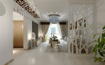 现代风格三居室120平米房屋装修效果图