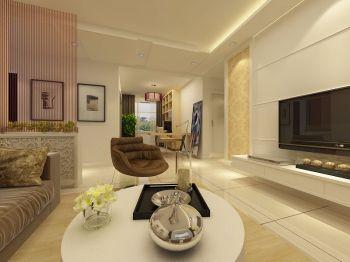 现代简约80平米两室一厅装修效果图
