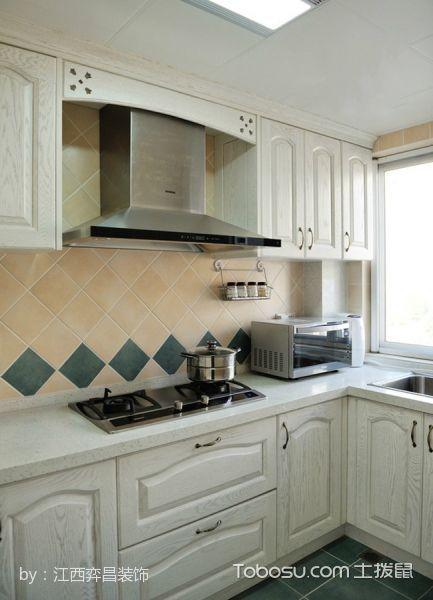 厨房白色背景墙混搭风格装潢图片