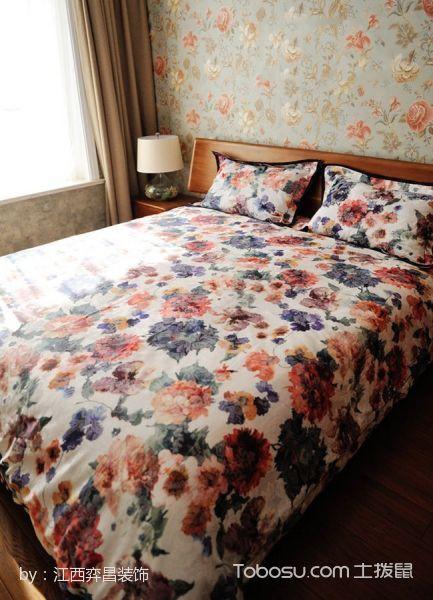 卧室彩色床混搭风格装潢设计图片