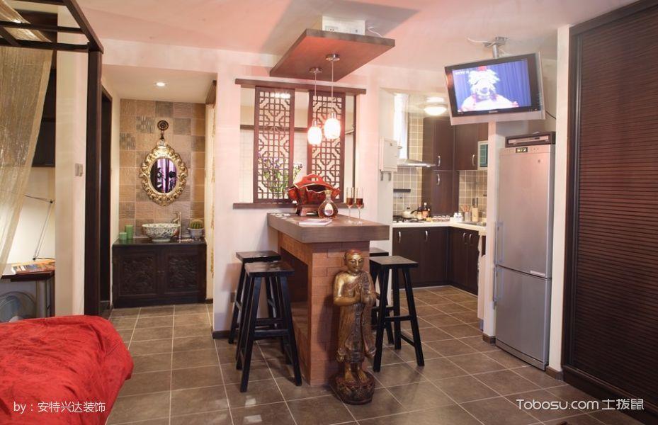井田公寓70平混搭一室一厅小户型装修效果图