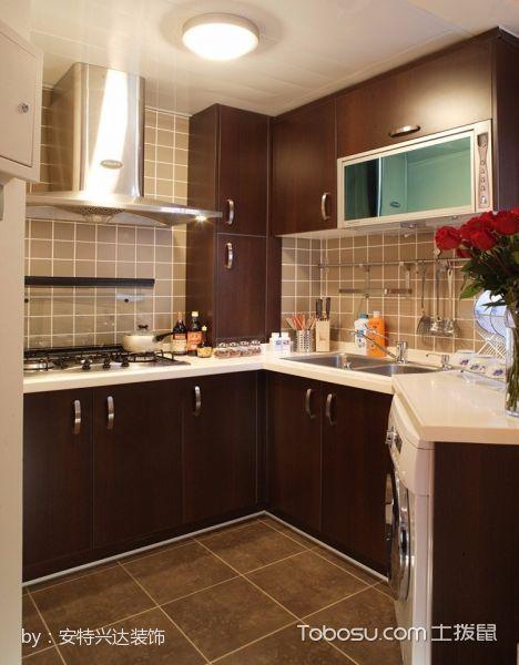 厨房黄色背景墙混搭风格装饰图片