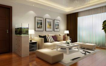 现代简约风格3室2厅120平米装修效果图