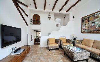 【26.9万】地中海风格169平米双层别墅装修效果图