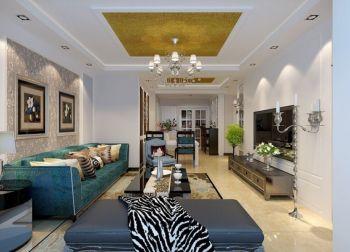 【8万】90平米现代欧式风格2室2厅装修效果图