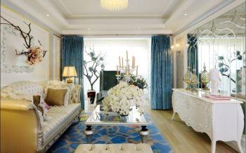 【5万】浪漫欧式风格3房2厅92平米装修效果图
