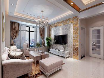 简欧风格清新90平米3房2厅装修效果图