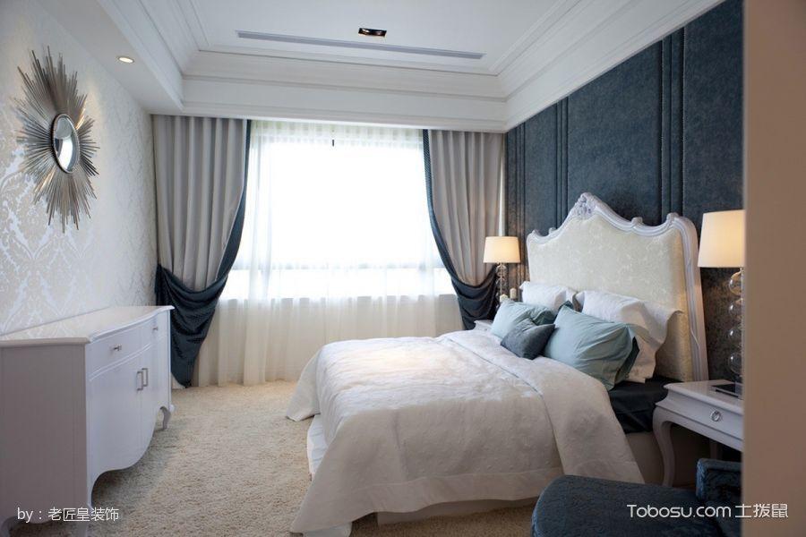 卧室白色床简欧风格装潢设计图片