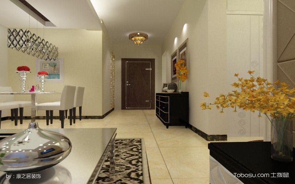 客厅白色地砖简约风格装修效果图