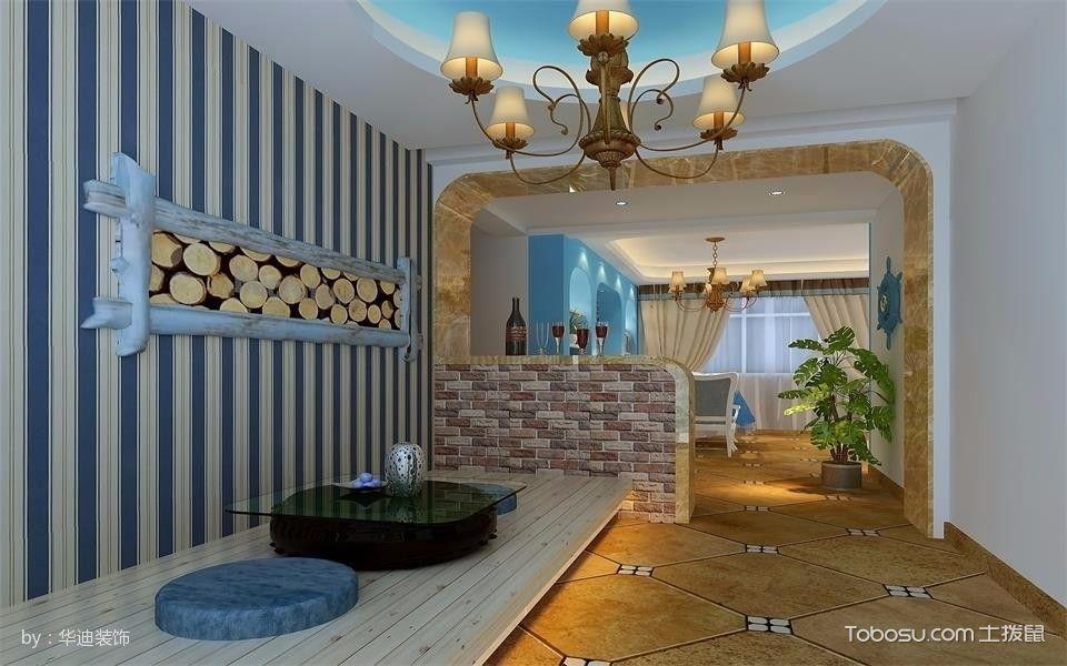 卧室白色榻榻米地中海风格装潢效果图