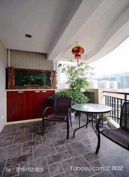 阳台灰色地砖现代风格装修图片