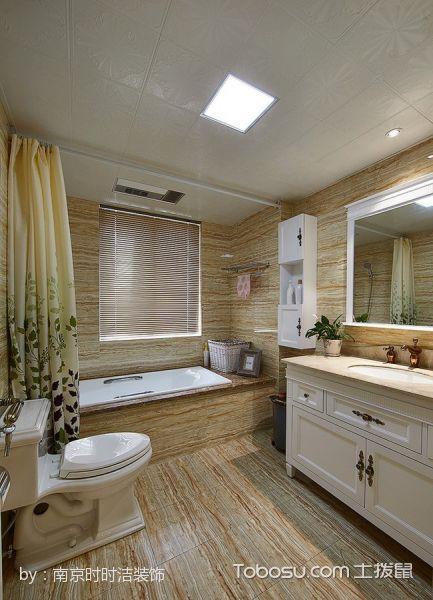 卫生间 浴缸_简欧风格3房2厅1厨1卫室内装修效果图
