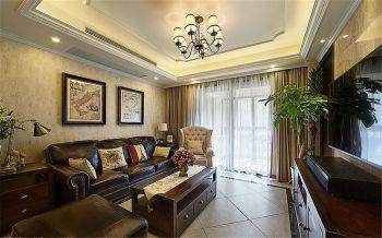金新御园三室两厅一卫美式110平米装修效果图