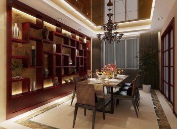 和瑞园中式混搭风格120平米三房二厅装修效果图