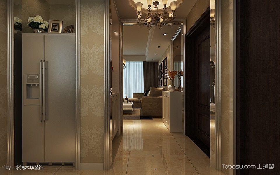 卧室黄色走廊现代简约风格装潢图片