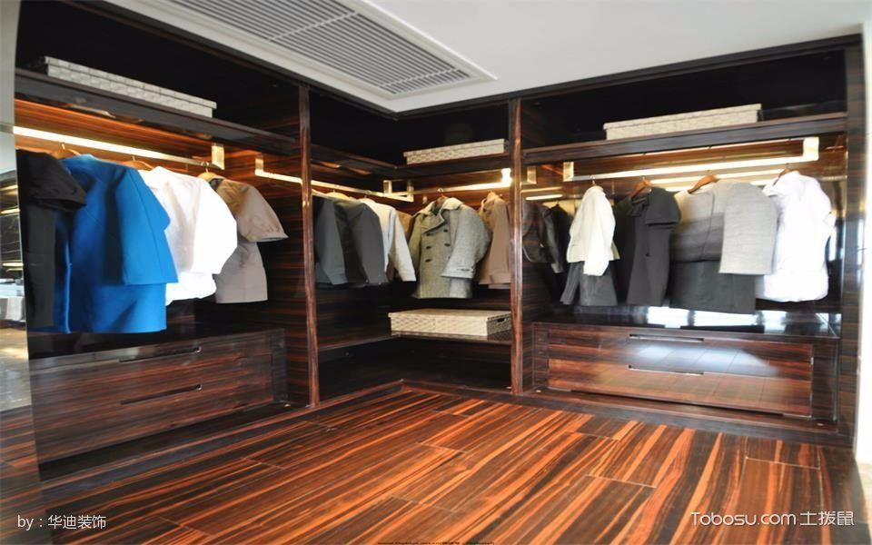 衣帽间咖啡色衣柜现代简约风格效果图