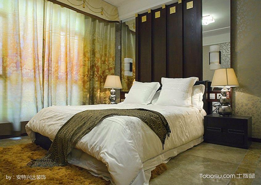 卧室白色床中式古典风格装修设计图片