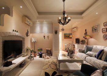 美式田园风格120-180平米三室一厅装修效果图