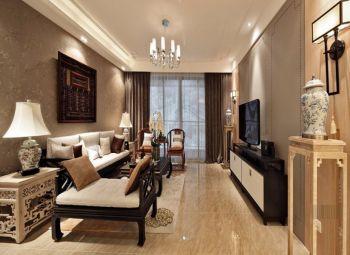 林枫馨苑中式混风3房2厅室内装修设计效果图