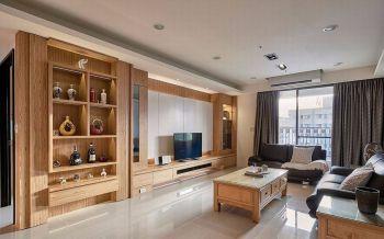 万科城现代木质103平米室内家居装修效果图