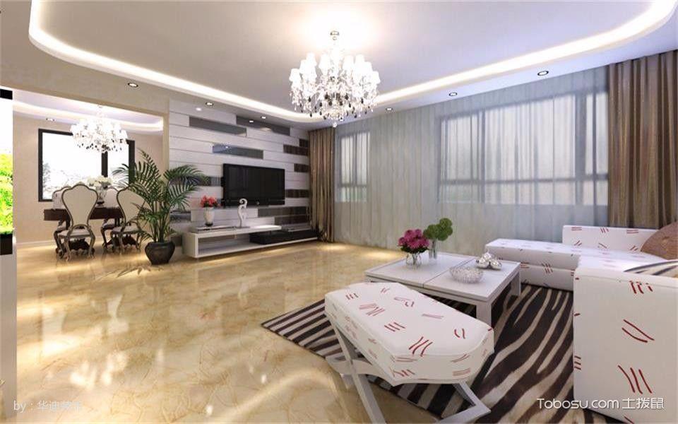 苏缇春晓125平米现代简约3房2厅装修效果图