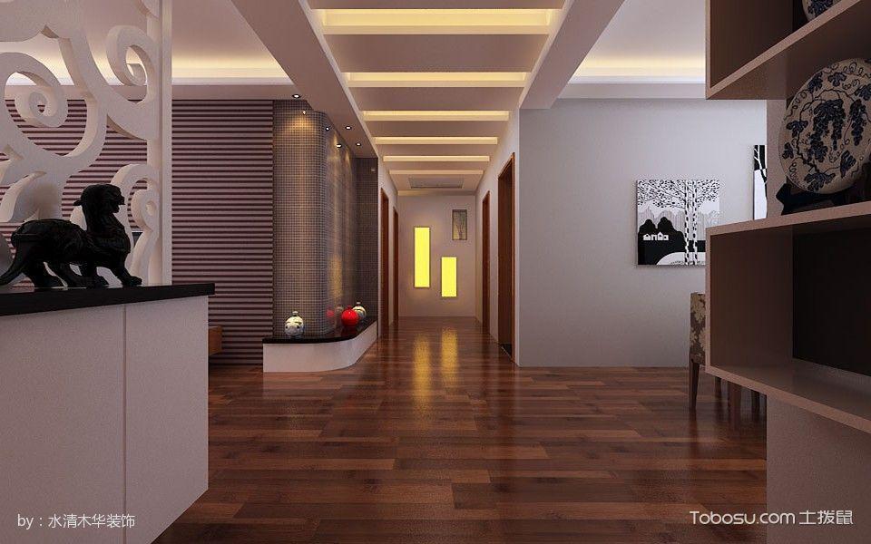 报业园现代简约风格3房2厅110平米装修效果图