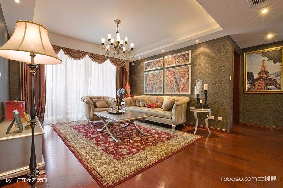 混搭风格120-180平米4房1厅新房装修效果图