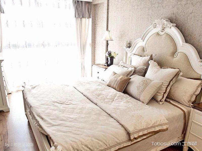 卧室白色床地中海风格装饰图片